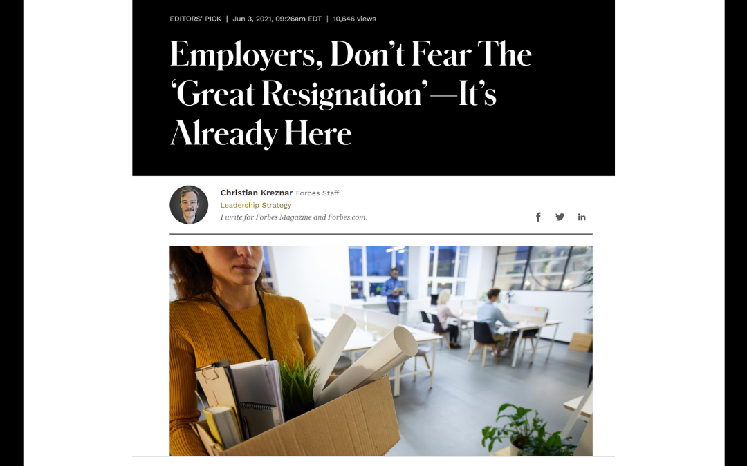"Trauma and ""the great resignation"""